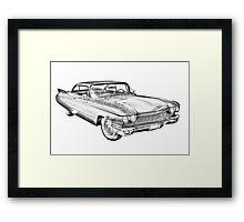 1960 Cadillac Luxury Car Illustration Framed Print