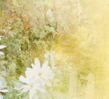 Serenity Prayer Fences and Flowers Sticker