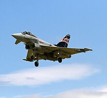 RAF Typhoon at  Farnborough Airshow by Keith Larby