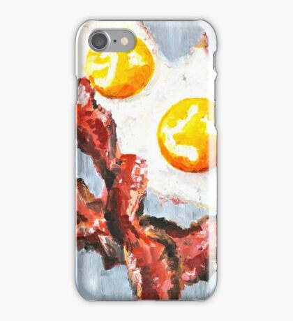 Eggs and Bacon Painting iPhone Case/Skin
