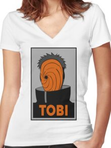 Tobi  Women's Fitted V-Neck T-Shirt