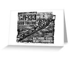 Heavy cruiser Toledo Greeting Card
