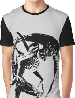 Alien Black & White Graphic T-Shirt