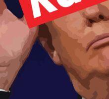 donald trump racist Sticker
