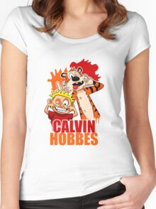 Calvin and Hobbes Time Women's Fitted Scoop T-Shirt