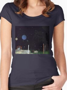 More Orbs -- Orb Reporting Photo Women's Fitted Scoop T-Shirt