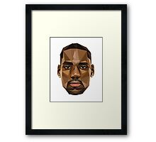 LeBron James Abstract Retro Design Framed Print