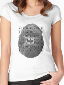 Harambe Memorial Women's Fitted Scoop T-Shirt