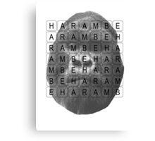Harambe Memorial Canvas Print