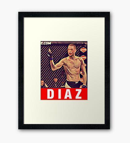 UFC 202 Diaz RED Framed Print