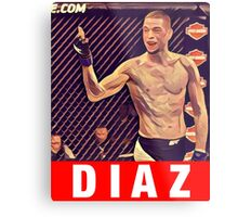 UFC 202 Diaz RED Metal Print