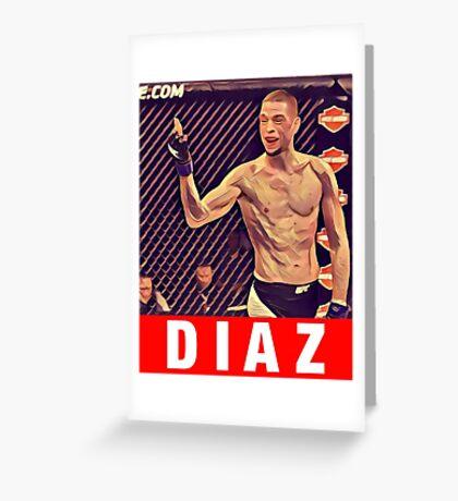 UFC 202 Diaz RED Greeting Card