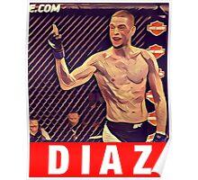 UFC 202 Diaz RED Poster