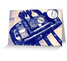 Steampunk Gauntlet 2.1 Greeting Card