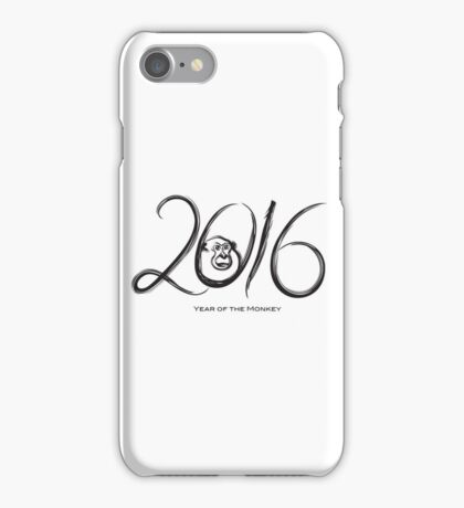 2016 Year of the Monkey Ink Brush Strokes iPhone Case/Skin