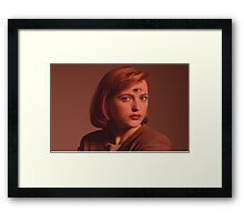 Scully Third Eye Framed Print