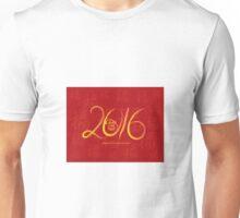 2016 Year of the Monkey Ink Brush on Red Background Unisex T-Shirt