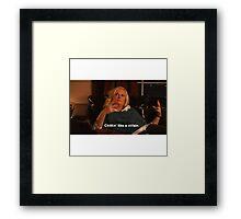 Leslie Knope: Chillin' like a villain Framed Print