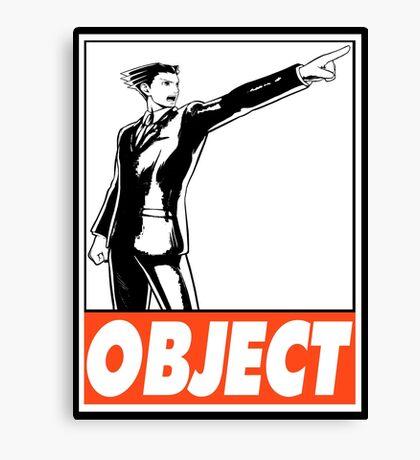 Phoenix Wright Object Obey Design Canvas Print