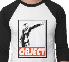 Phoenix Wright Object Obey Design Men's Baseball ¾ T-Shirt