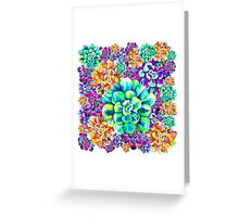 Psychadelic Succulents Greeting Card