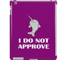 The Disapproving Narwhal  iPad Case/Skin