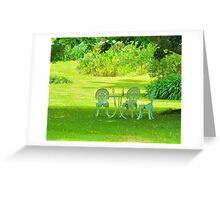 Wine In The Park Greeting Card