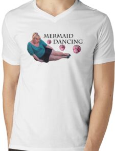 Mermaid Dancing - Fat Amy Mens V-Neck T-Shirt