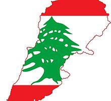 Lebanon Flag Design by RhinoEdits