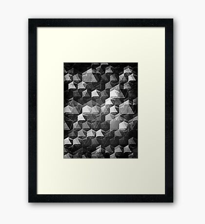 AS THE CURTAIN FALLS (MONOCHROME) Framed Print