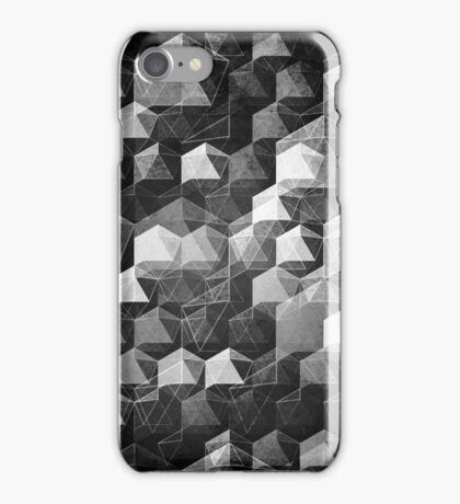 AS THE CURTAIN FALLS (MONOCHROME) iPhone Case/Skin