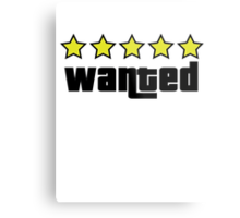 Wanted (GTA V) Metal Print