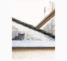 Cat on Roof in Earthtones Unisex T-Shirt