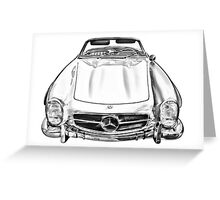 Mercedes Benz 300 SL Convertible illustration Greeting Card