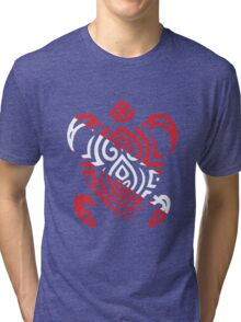 Scuba Flag Tribal Turtle Tri-blend T-Shirt