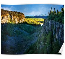 Ouimet Canyon North of Lake Superior Poster