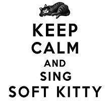 Keep Calm and Sing Soft Kitty  by Lallinda