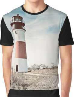 Sankaty Head Lighthouse on the island of Nantucket MA Graphic T-Shirt