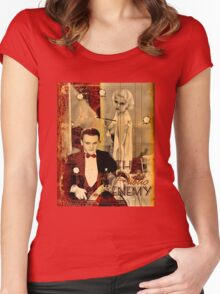 The Gangster's Blonde Girl Women's Fitted Scoop T-Shirt