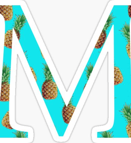 Mu Pineapple Letter Sticker