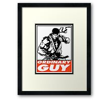 Ryu Ordinary Guy Obey Design Framed Print