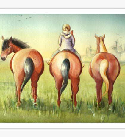 Pony Tails Sticker