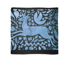Deer and nature in silver, blue, teal,animal,nature,totem Scarf