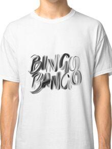 Bingo Bango Slogan Hipster Funny Art Typography Classic T-Shirt