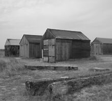Old Beach Huts by WalkerboyUK