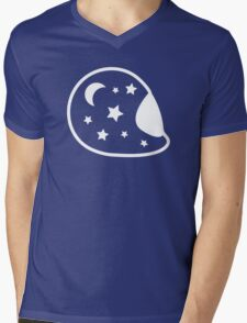 Moon and Stars Helmet Mens V-Neck T-Shirt