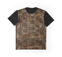 Stained Stone Wall Graphic T-Shirt