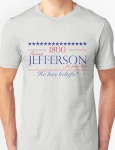Jefferson for President- Election of 1800 Unisex T-Shirt