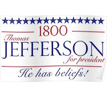 Jefferson for President- Election of 1800 Poster