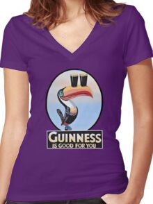 GUINNESS IS GOOD FOR YOU Women's Fitted V-Neck T-Shirt